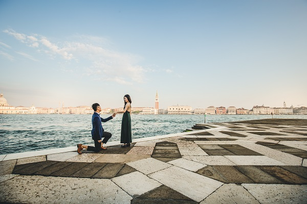 surprise proposal san giorgio venice photographer