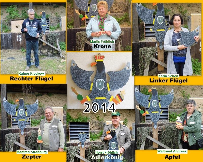 Gewinner des Bellinger Adlerschießen 2014