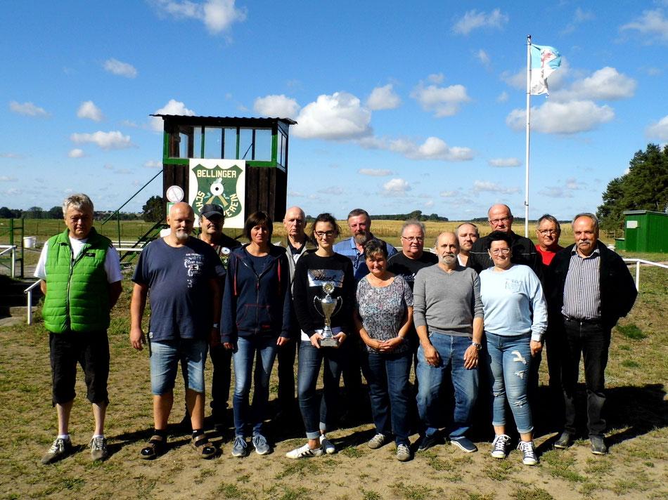 Teilnehmer des 8. Pokalschießen Luftgewehr am 26.08.2018