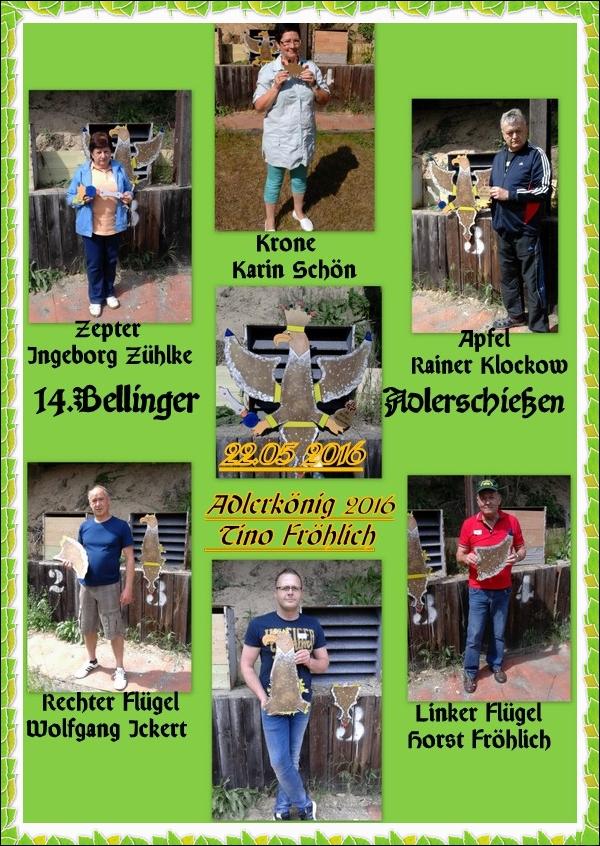 Gewinner des 14. Bellinger Adlerschießen am 22.05.2016