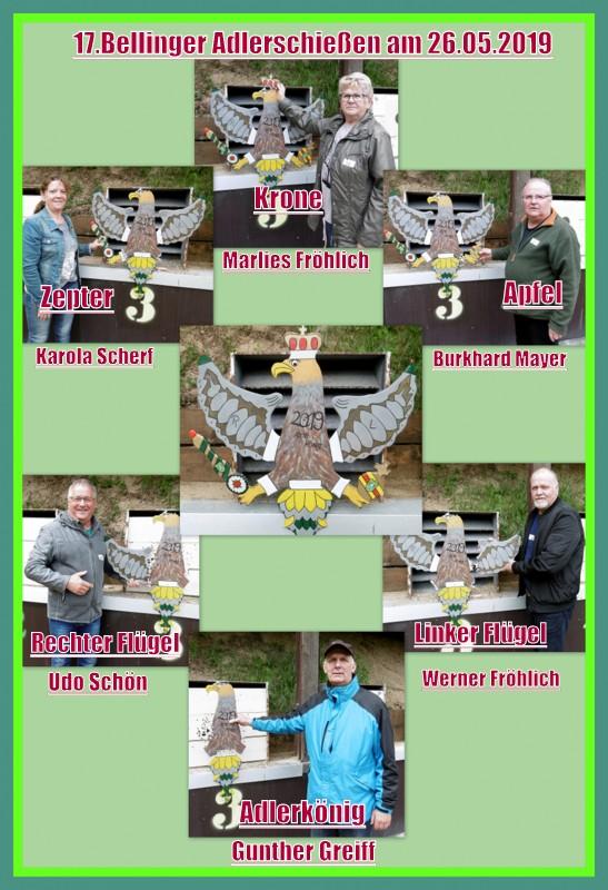 Gewinner des 17. Bellinger Adlerschießen vom 26.05.2018