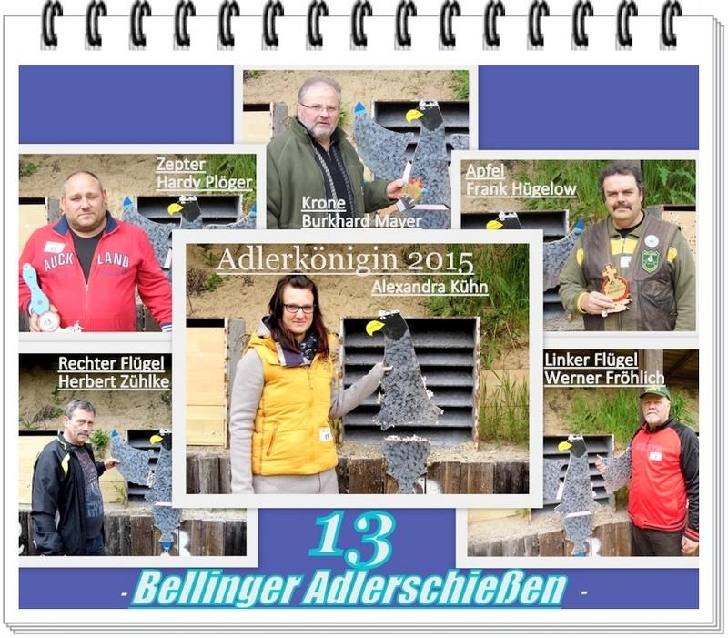 Gewinner des Bellinger Adlerschießen 2015