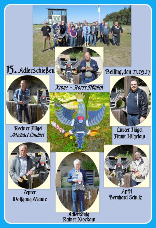 Gewinner des 15. Bellinger Adlerschießen am 21.05.2017