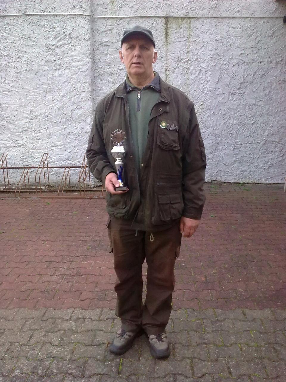 Gunther Greiff 3. Platz in der Seniorenklasse beim 10. Doppeltrapschießen am 04.10.15 in Torgelow
