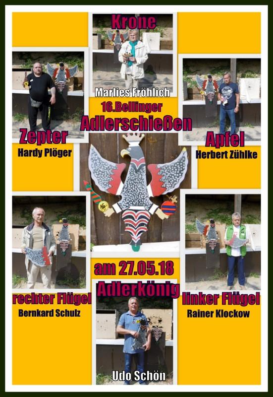 Gewinner des 16. Bellinger Adlerschießen vom 27.05.2018