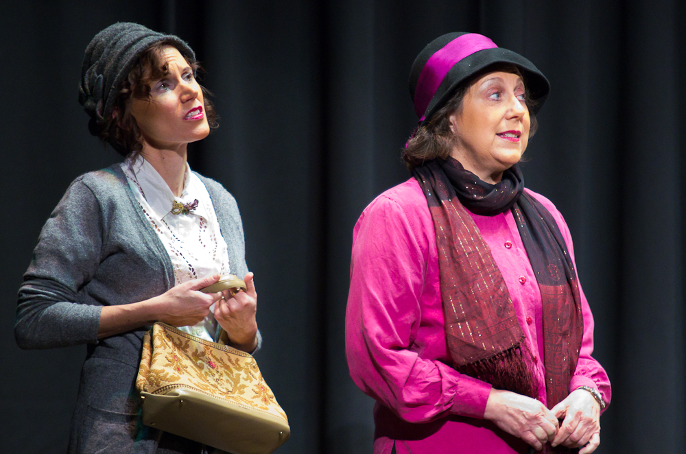 "Julee Mitchell and Tracy Sherman in ""The Street of Good Friends"" by Owen Arno - Oct / Nov 2011"
