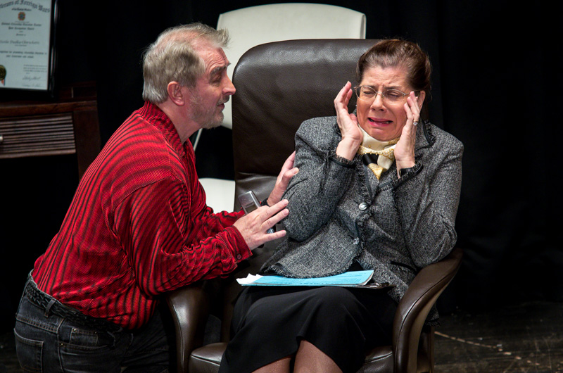 "Roy Mroch and Stacey Groves in ""Annoyance"" by Sam Bobrick - September 2013"