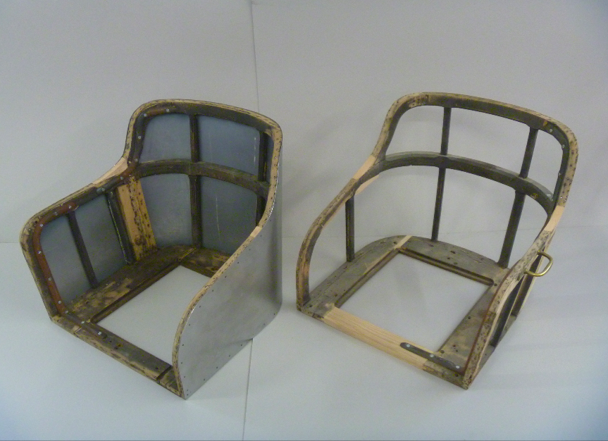 Sitzgestell mit Blech bespannt