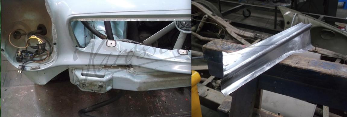 für Frontschaden an Mercedes Pagode Blech angefertigt