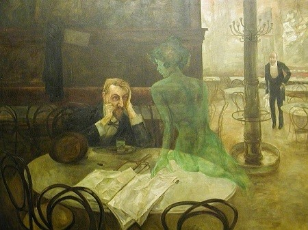 The Absinthe Drinker (1901) - Viktor Oliva