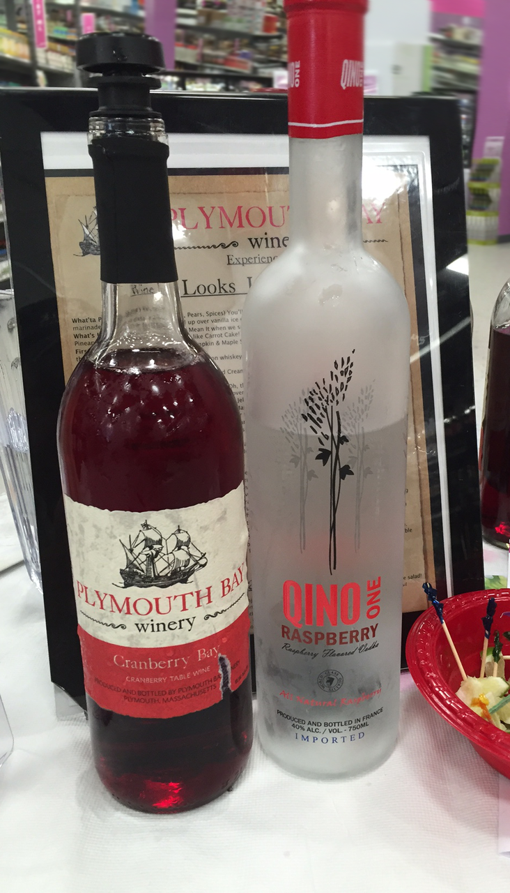New Cape Codder cocktail recipe with Qino One Raspberry Vodka and Plymouth Bay Winery's Cranberry Bay red wine