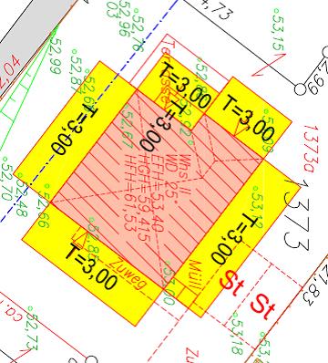 Abstandsflächenzeichnung