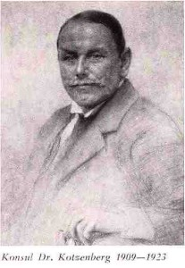 Konsul Dr. Kotzenburg 1909-1923 - Präsident FRFC