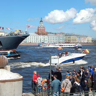 An der Newa in Sankt Petersburg