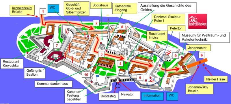 Schema Information WC und Petertor