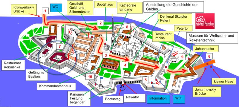 Schema - wo liegt die Bastion das Gefängnis auf der Festung
