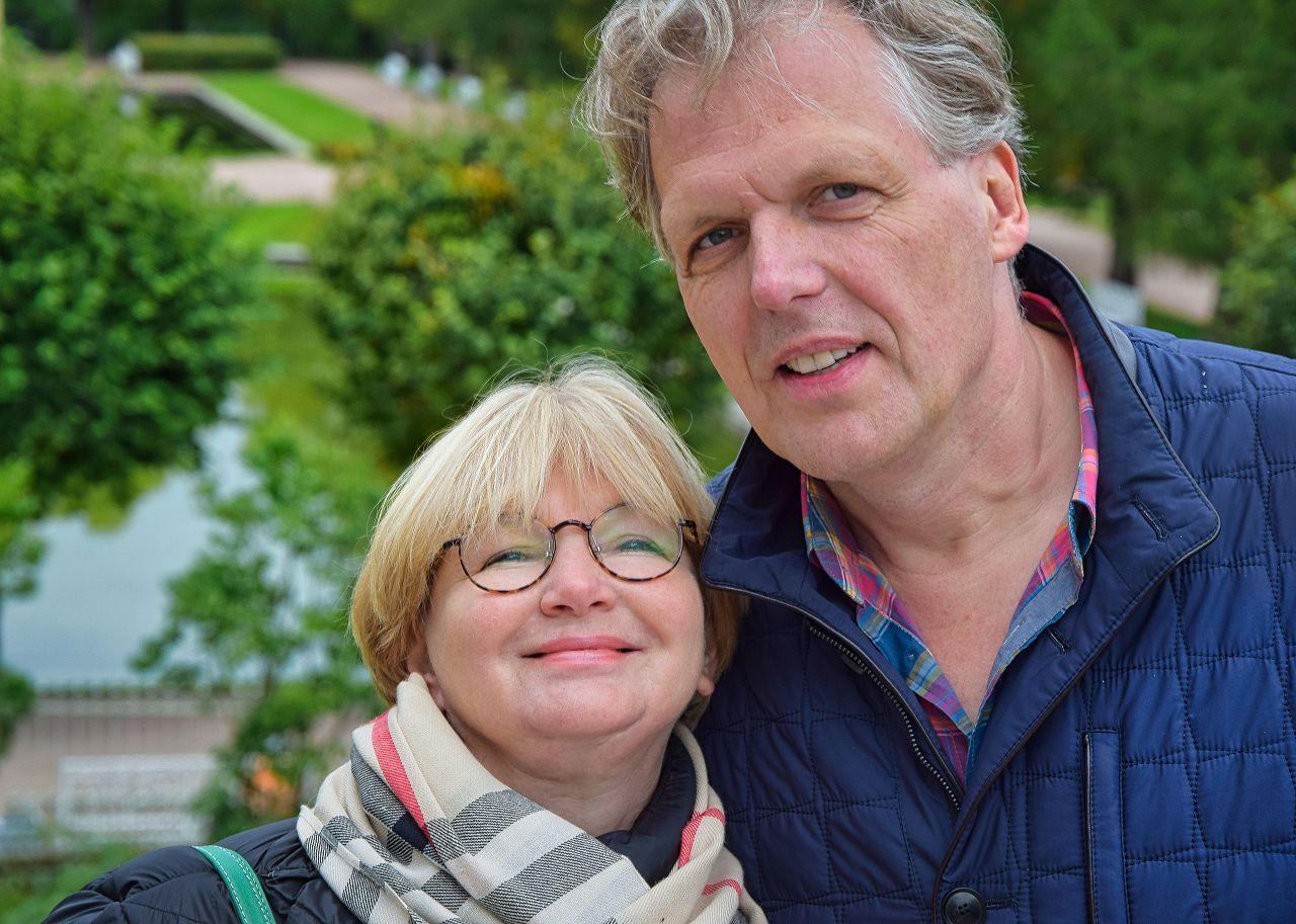 Tatjana und Fred bei einer St. Petersburg Führung