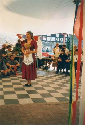 """J.S. Bach """"Bauernkantate"""" Rolle: Mike szenische Aufführung in Halberstadt 1995"""