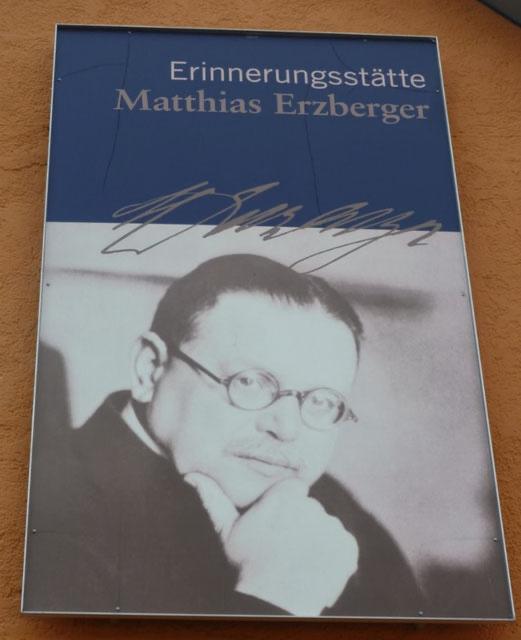 © Sarah Huber, Erinnerungsstätte Matthias Erzberger.