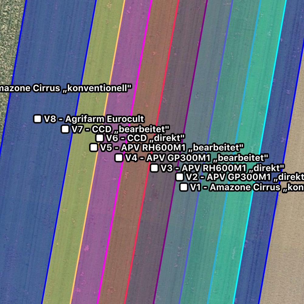 Die einzelnen Varianten in der Planung