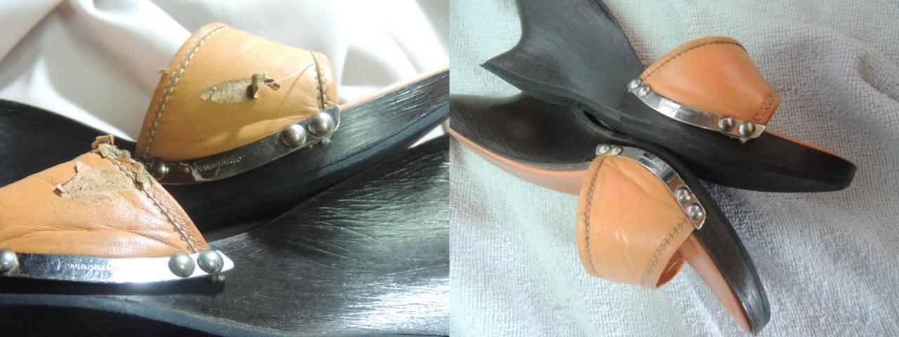 フェラガモの側面修理