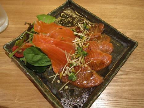 110718-047 「蕎麦・旨酒 亀蔵」 の「カルパッチョ」