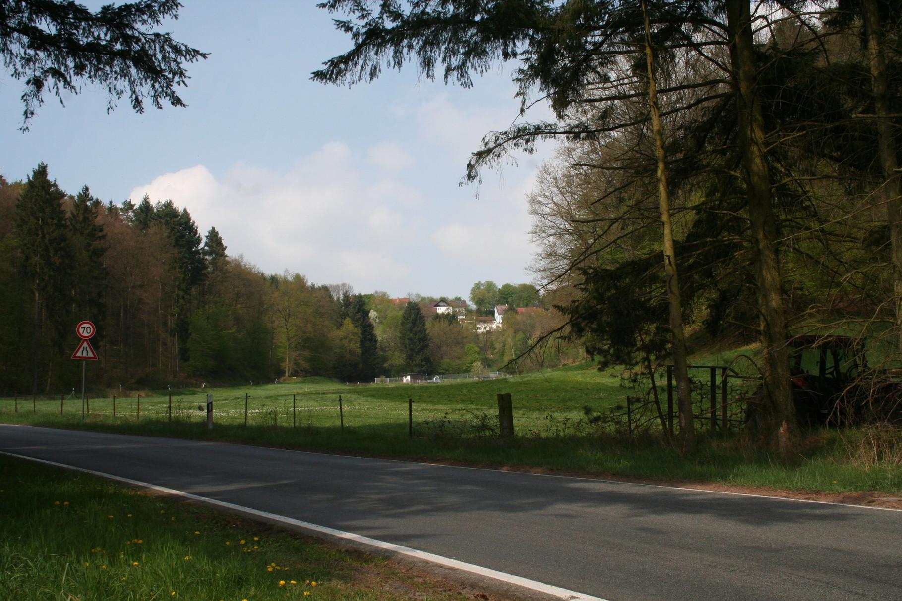Die Straße von kaiserslautern zum Gersweilerhof