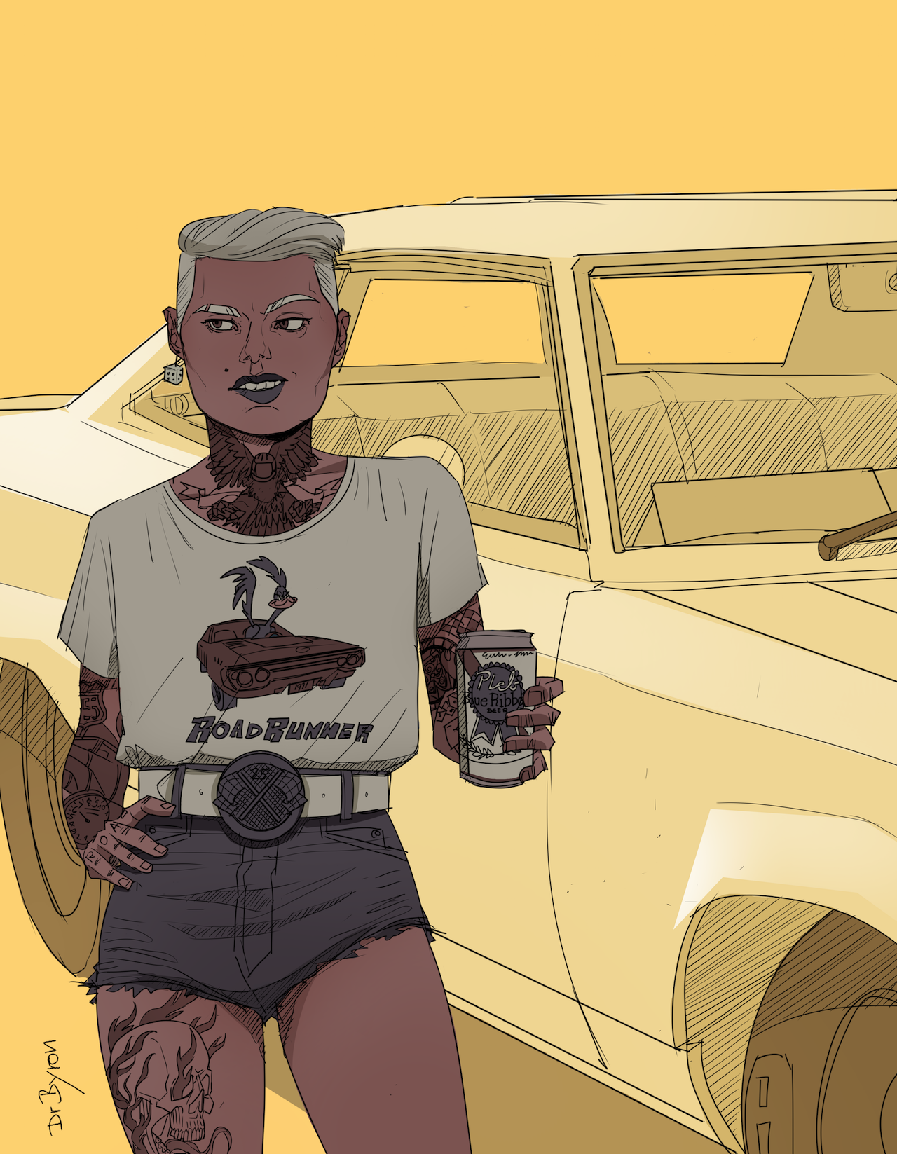 "Character design ""Car Show 1"""