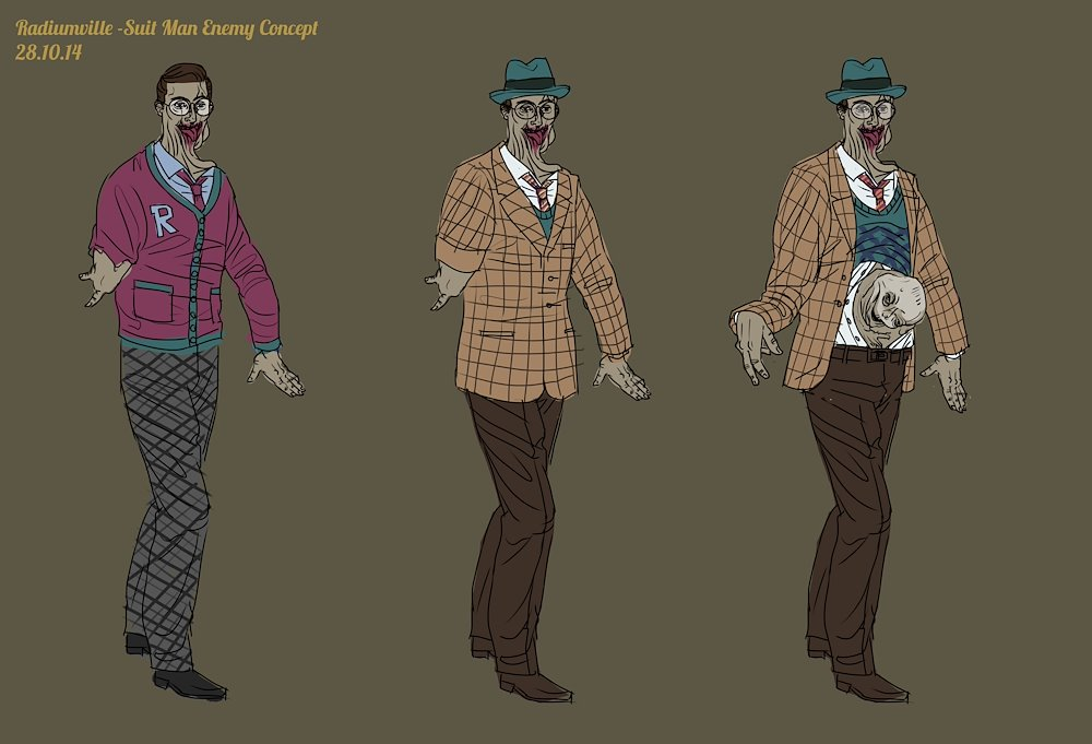 "Concept art for the game ""Radiumville"""