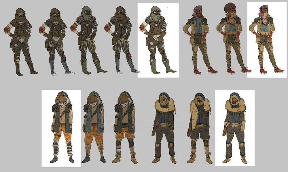 "Concept art for the game ""Dead Age"""