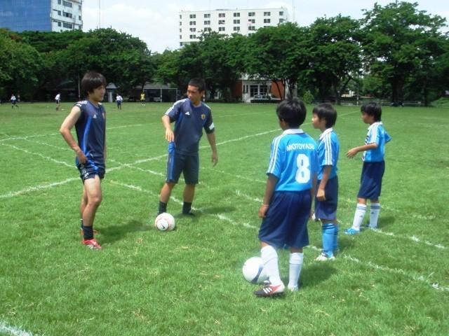 ユニバーシアード日本代表と合同練習 長友佑都選手