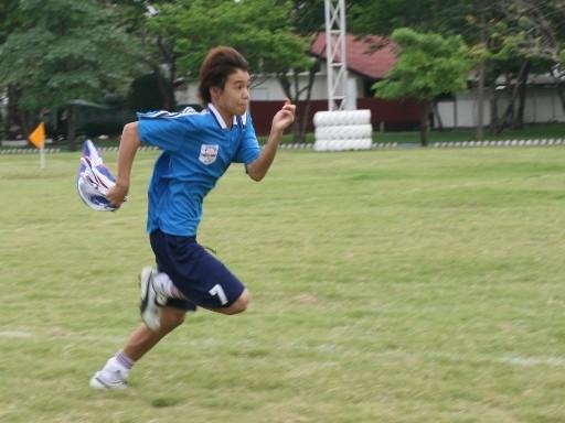 2009.3.1  お別れサッカー 本気モードのリレー
