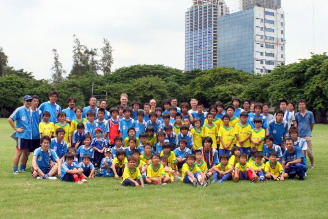 2008.6.29 ブラジリアンサッカーが練習試合に来てくれました。