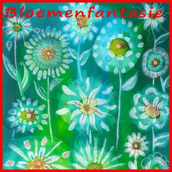 Vrolijk word je van deze fantasiebloemen met ecoline, gesso en kleurpotlood!