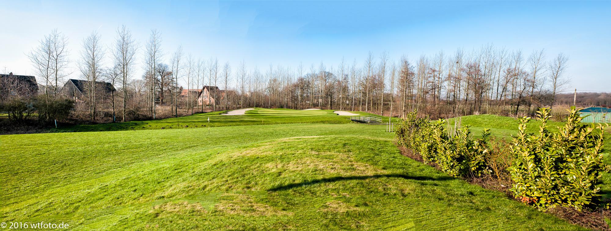 Panoramaansicht auf Grün 7