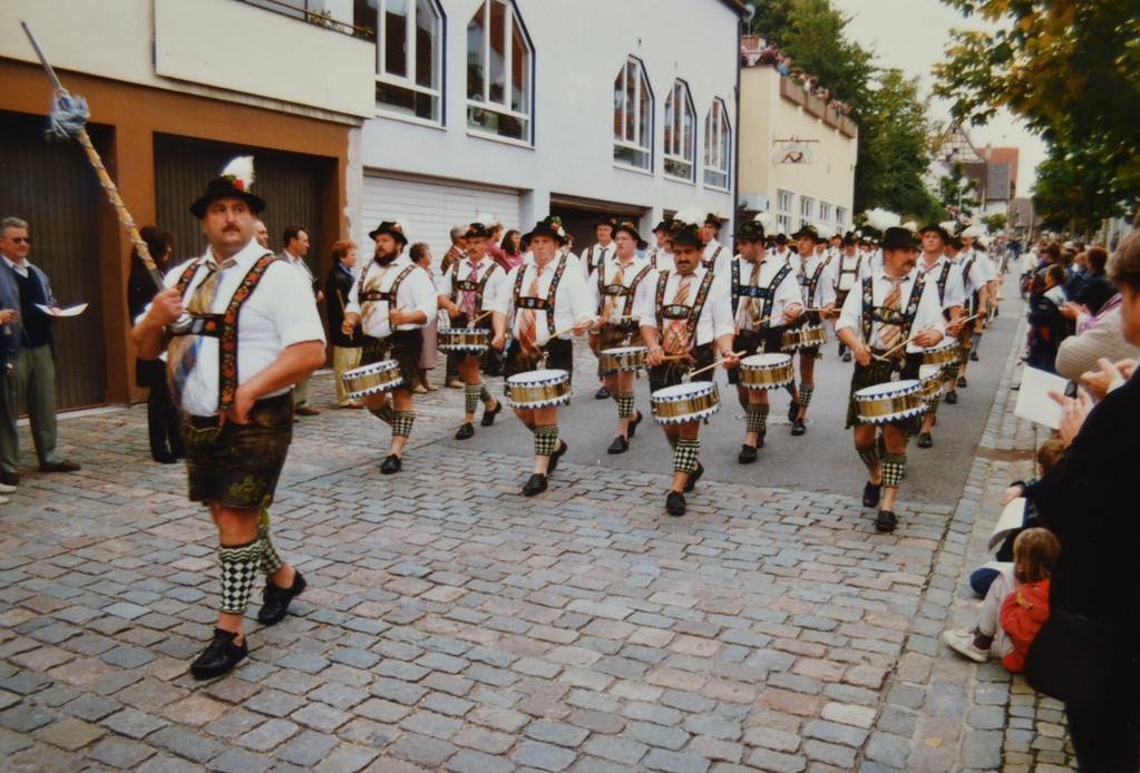 Der Trommlerzug in Herrenberg (15.09.96)