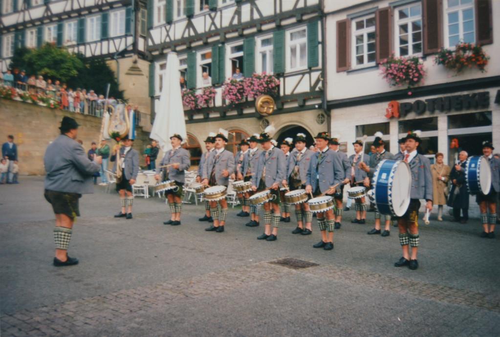 Der Trommlerzug in Herrenberg (14.09.96)