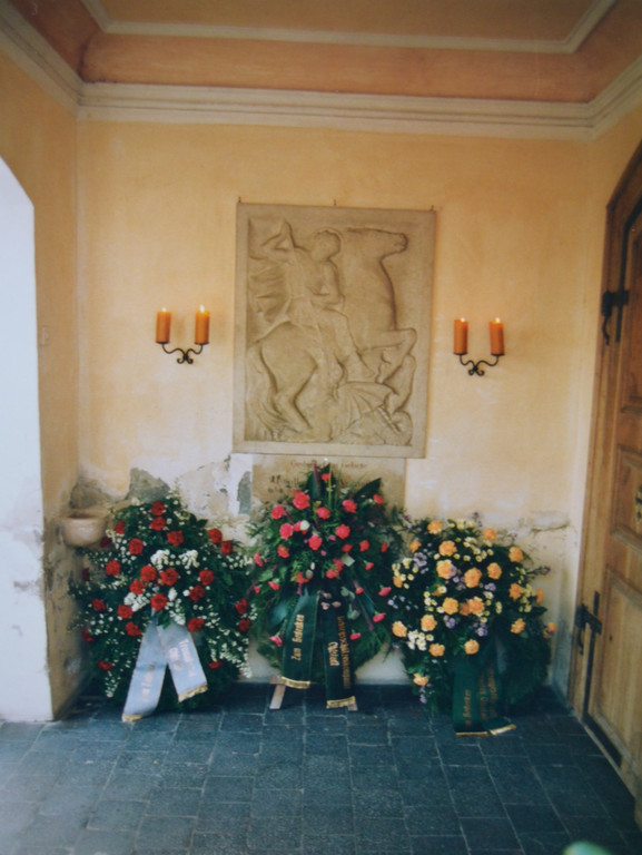 Musikfest 1993 - Kranzniederlegung für die verstorbenen Kameraden