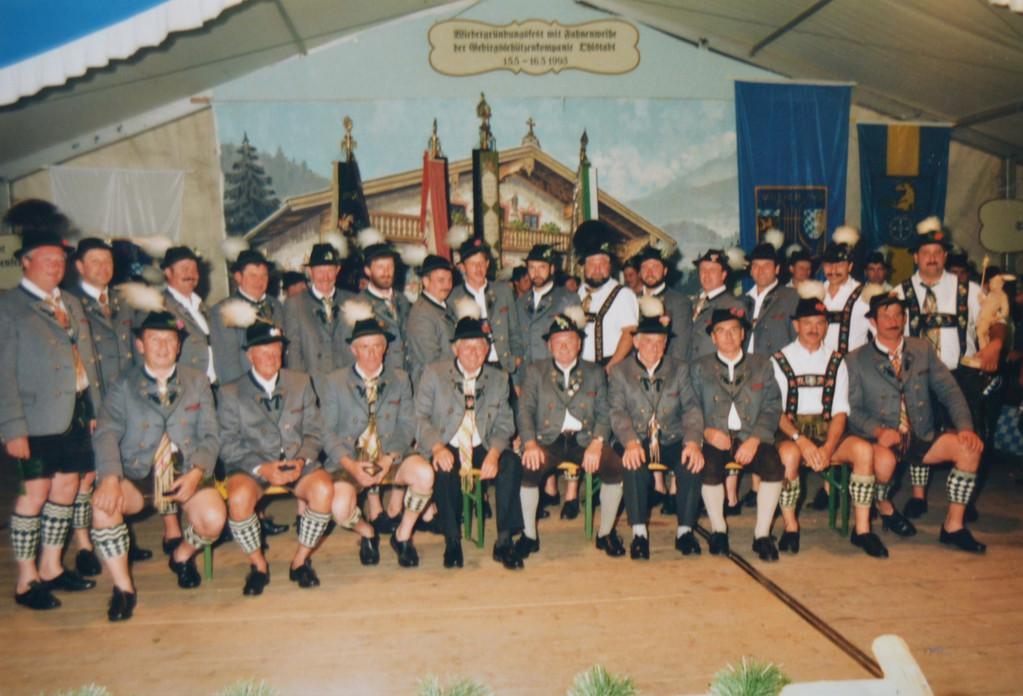 Musikfest 1993 - die geehrten ehemaligen Trommler