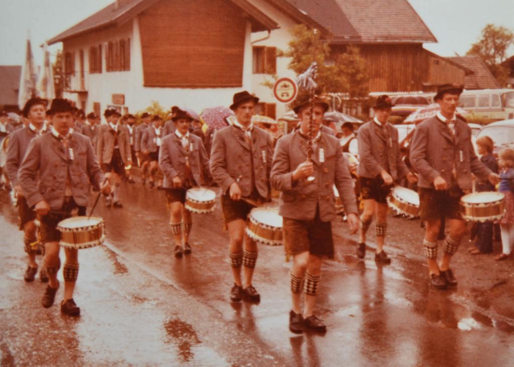 Der Trommlerzug unter der Leitung von Karl Eibl