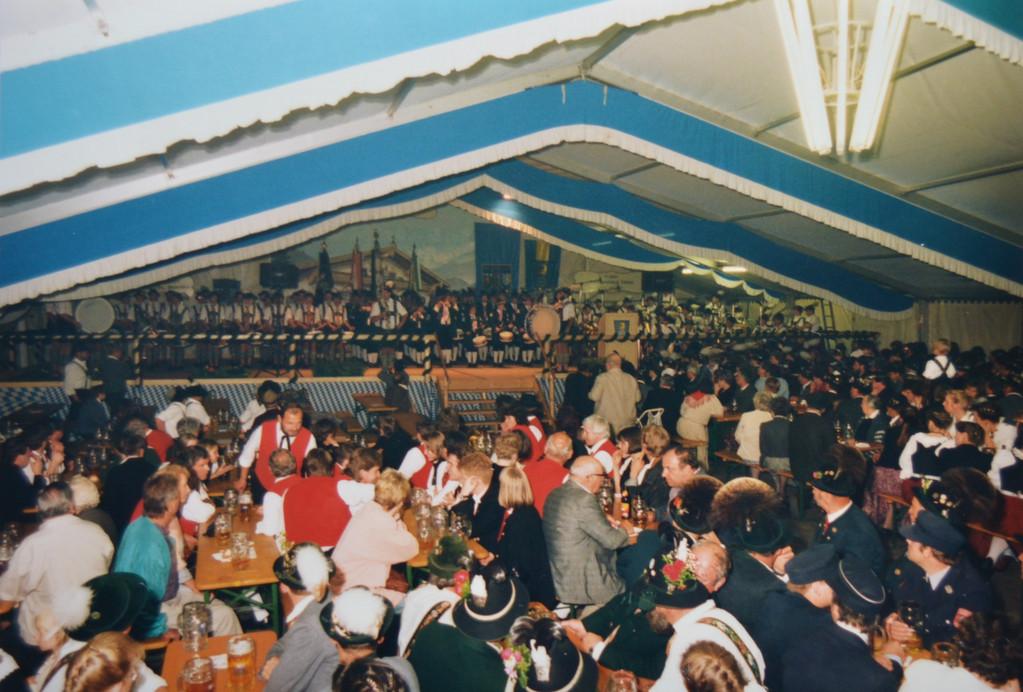 Musikfest 1993 - Auftritt mit dem Spielmannszug Beuerberg