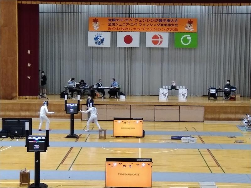 フェンシングの全国大会を長野県箕輪町で開催。