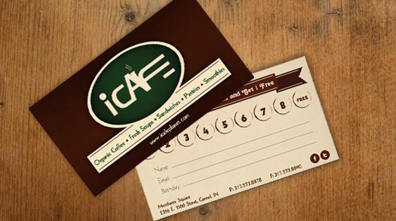 iCafe Business Card Design