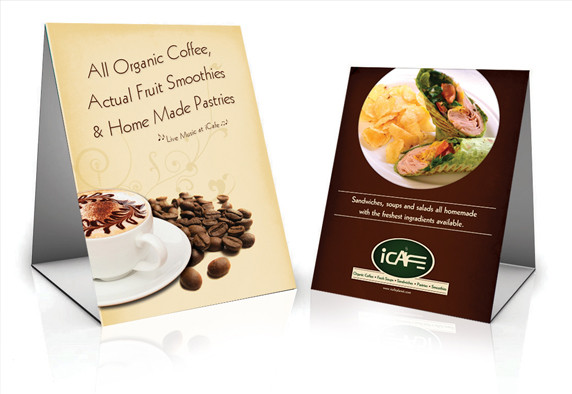 iCafe Table Tent Designs
