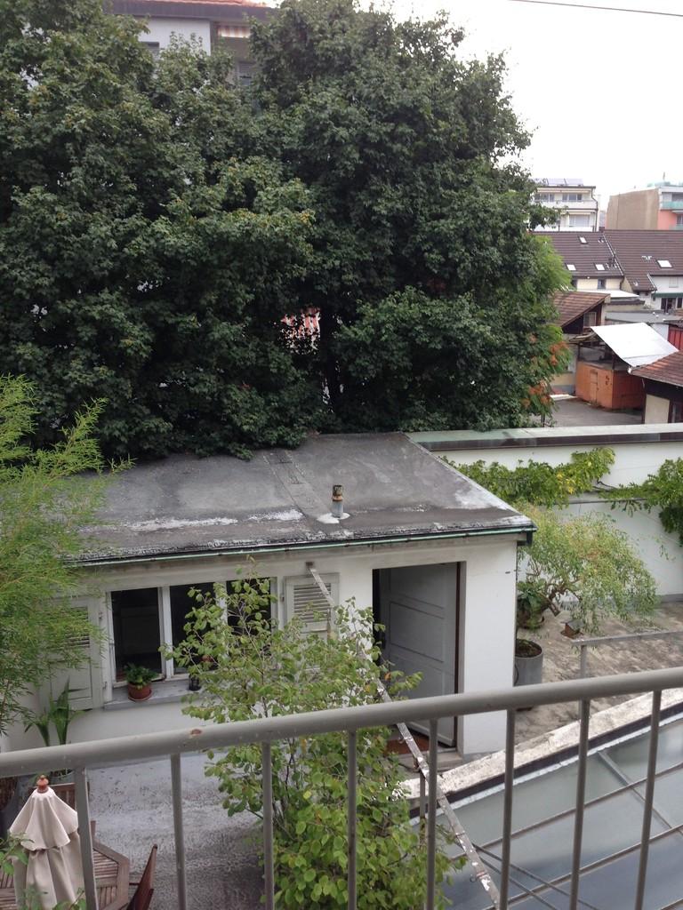 Vom Balkon aus Hinterhaus