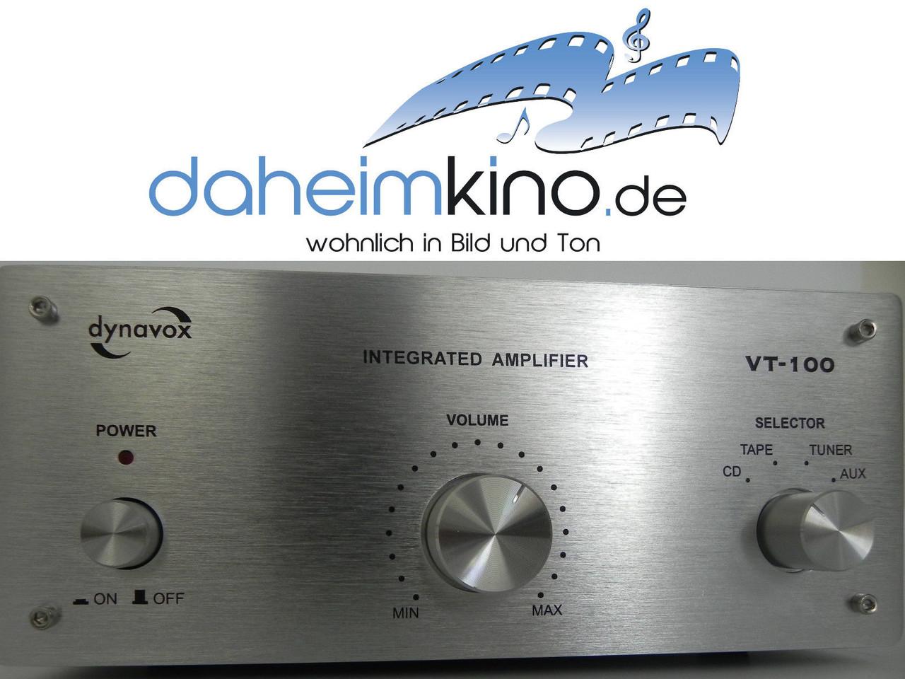 Dynavox Vollverstarker Vt 100 Silber Daheimkino