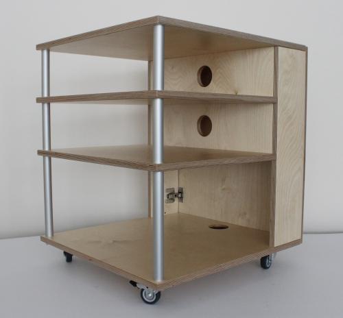 hifi rack birke natur. Black Bedroom Furniture Sets. Home Design Ideas
