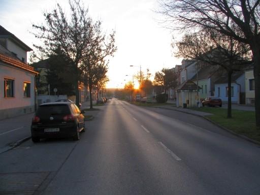 Sonnen aufgang in Neudörfl 16.11.08