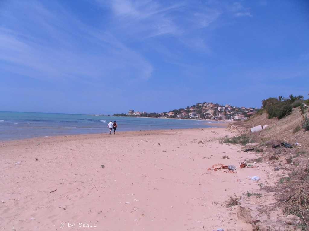 """Der """"Weisse Strand"""" ca. 9,4 km lang"""
