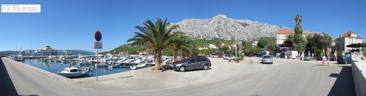 Hafen von Orebic (Fähre nach Korčula)